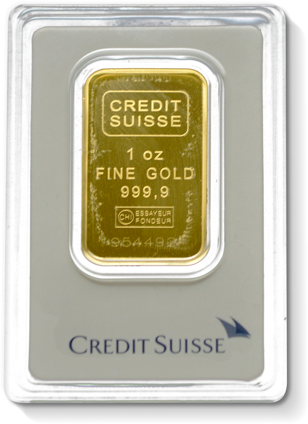 1 Oz Credit Suisse Gold Bar Gold Bars Gold
