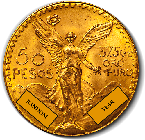 Gold Mexican 50 Peso Coin - AGW 1.2057