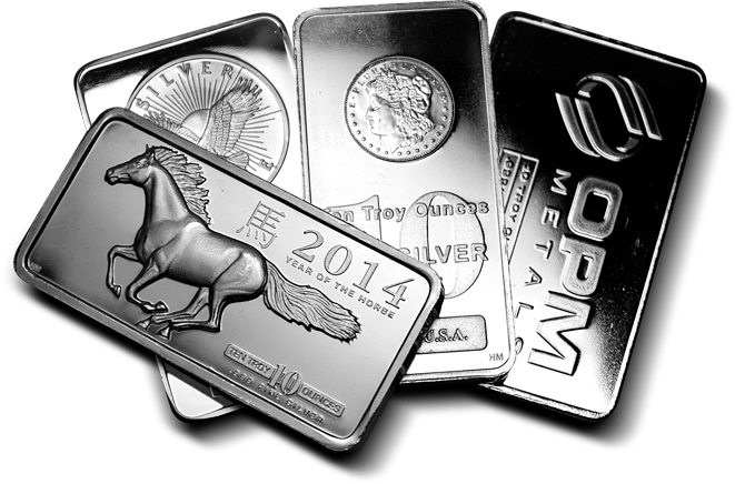 10 Oz. Silver Bar (Our Choice)