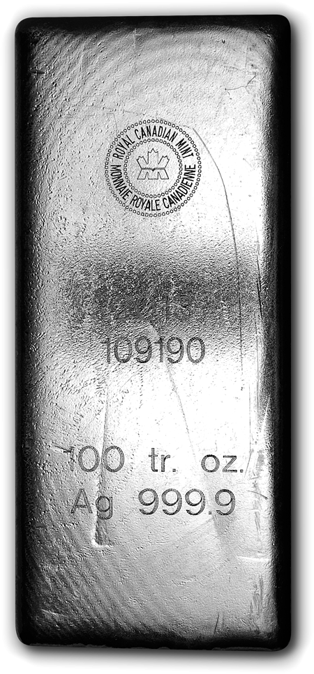 100 Oz. Silver RCM Bar