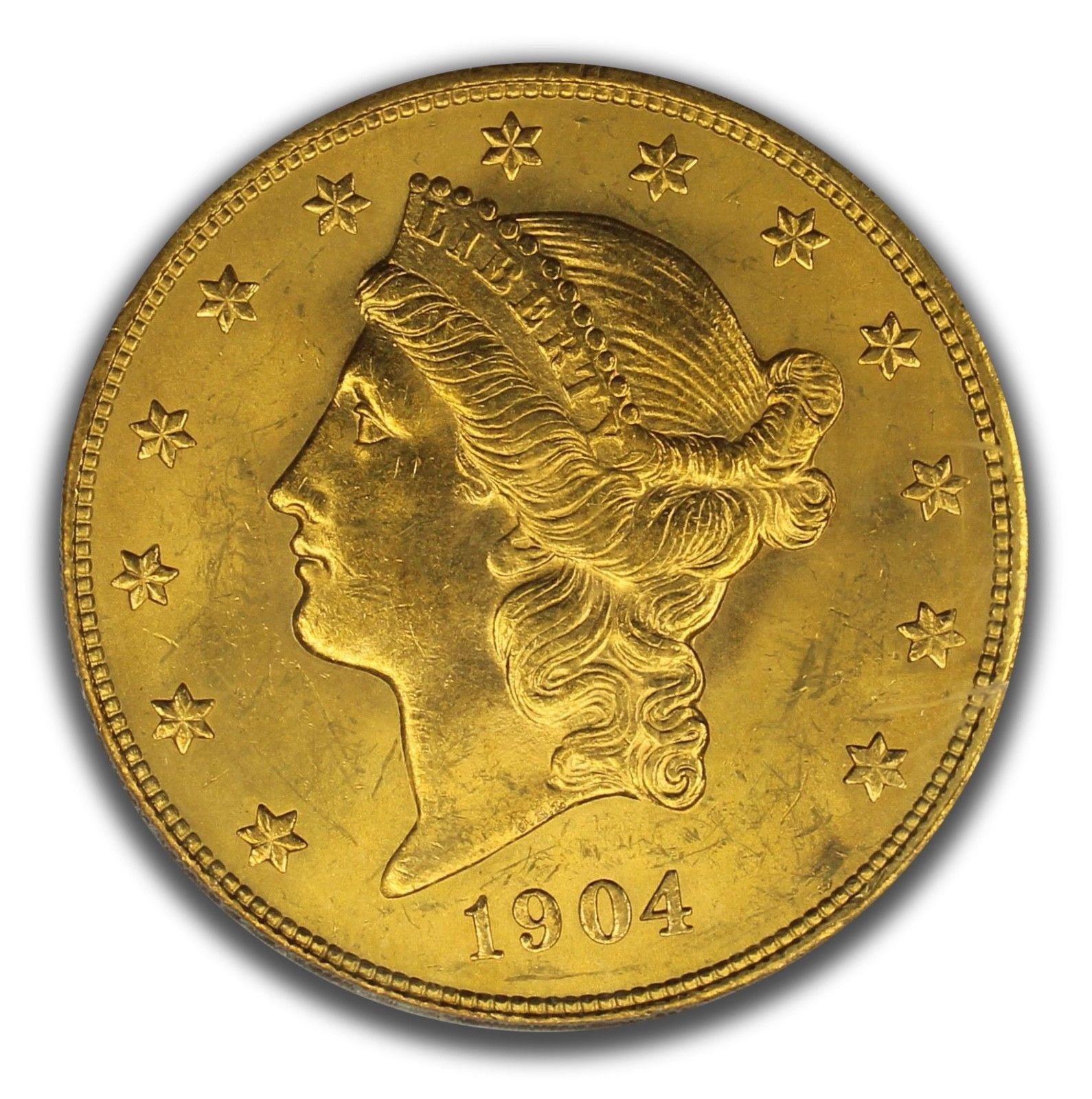 1904 $20 Gold Liberty Head PCGS Graded MS64