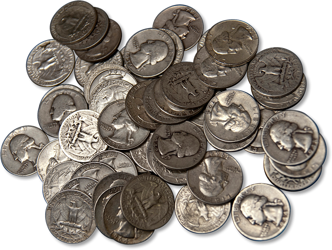 90 Junk Silver Coins 100 Face Value Bag