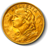 Gold Swiss / French 20 Francs - AGW .1867